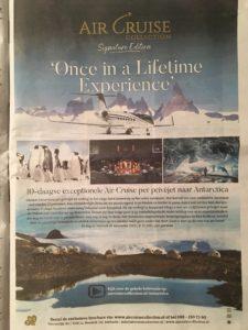 Met een prive jet naar het smeltende Antartica. Dit is misschien wel de ergste fossiele reclame