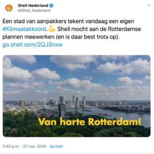 Shell adverteert met eigen fossiele lobby - best trots
