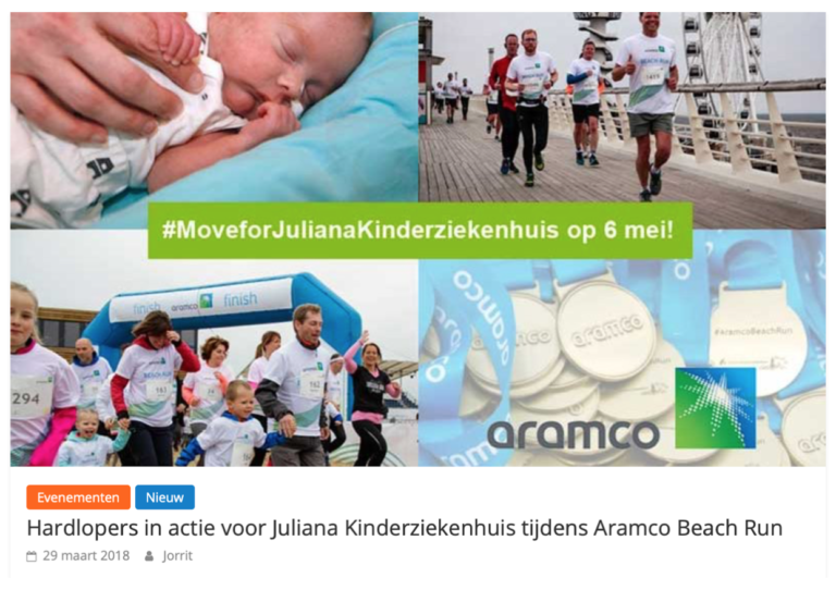 Aramco, kinderen, sport en gezonde longen