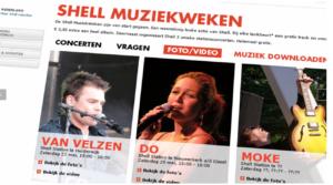 Misleidende brand stretching: Shell en muziek