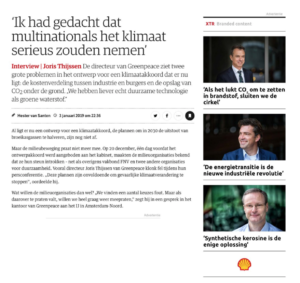Advertorials Shell in NRC van Shell