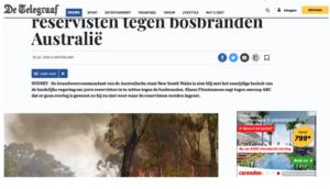 Reclame voor klimaatverandering verergerende vliegreizen naast bosbranden in Australie