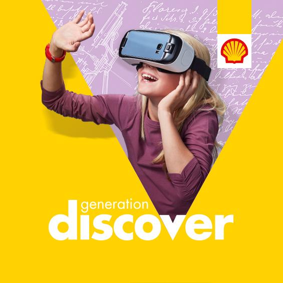 Shell Generation Discover - lobby en branding festival voor kinderen van Shell