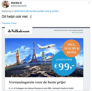 Vliegverleiding in de Volkskrant