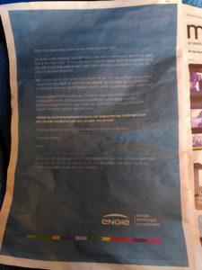 Engie verschuift de schuld in z'n fossiele reclame naar de burger