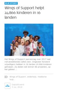 KLM en onderwijs is fossiele branding