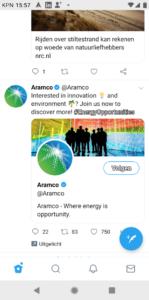 Aramco doet aan innovatie en milieu - zegt Aramco in fossiele reclame