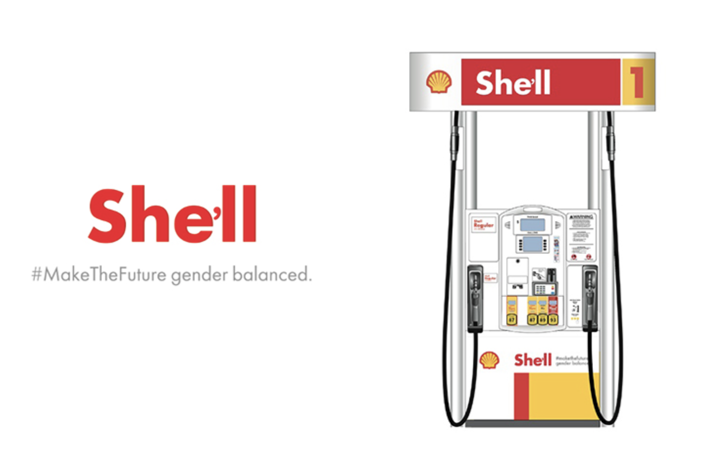 Shell - She will - issue advertisement