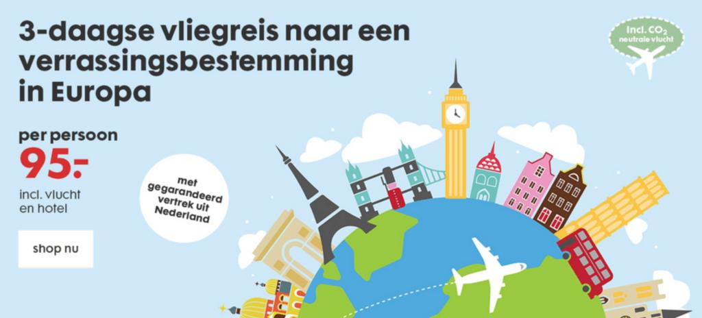 HEMA biedt reisje aan incl CO2-neutrale vlucht