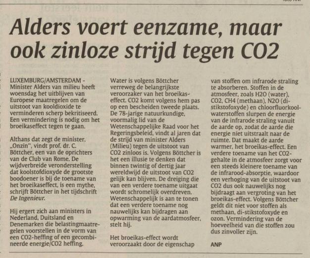Twijfel zaaien om klimaatbeleid te stoppen - 1994 - Bottcher - Shell
