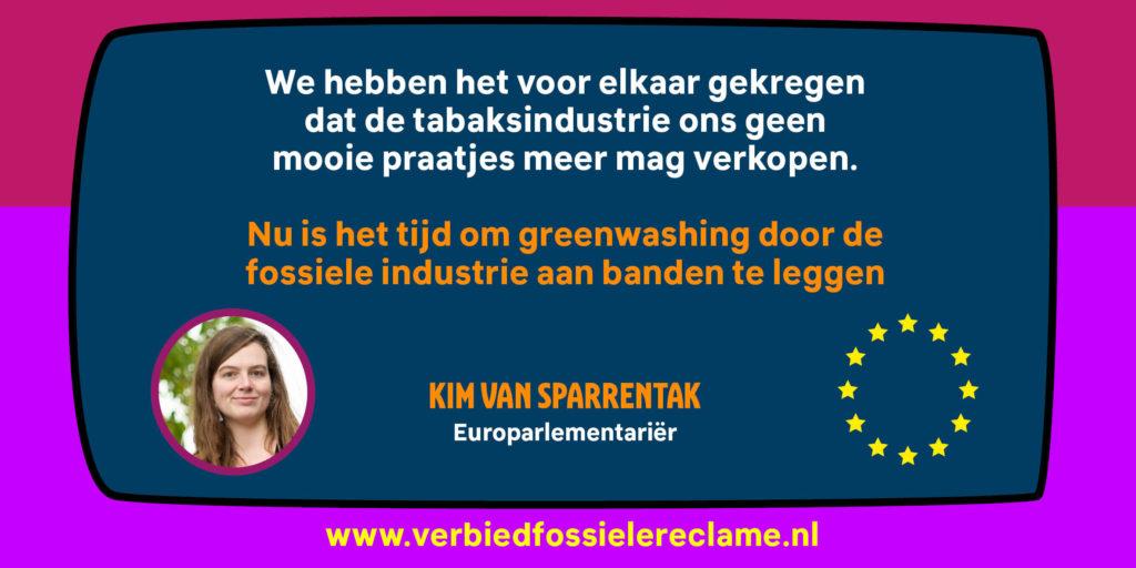 Kim van Sparrentak wil fossiele reclame verbieden