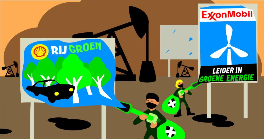 Rebellen tegen fossiele reclame