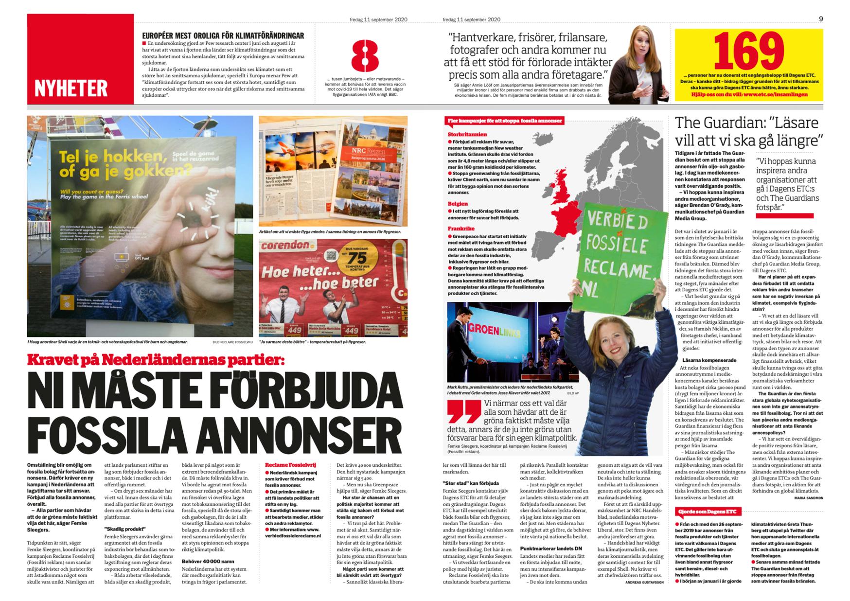 Interview met Femke door Dagens ETC