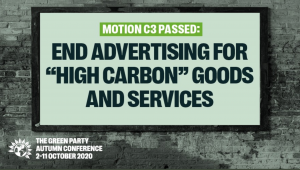 Green Party wil wet die fossiele reclame verbiedt