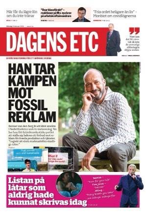 Voorpagina Dagens ETC