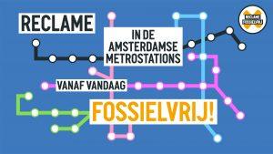 metro amsterdam reclame fossielvrij